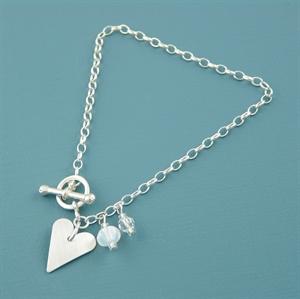Picture of Aluminium Slim Heart Toggle Bracelet