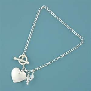 Picture of Aluminium Round Heart Toggle Bracelet