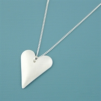 Picture of Aluminium Slim Heart Necklace JS1-A