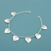 Picture of Aluminium Heart Charm Bracelet
