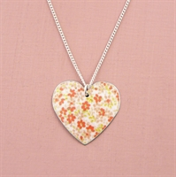 Picture of Pretty Floral Round Heart Pendant