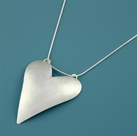 Picture of Aluminium Large Heart Necklace JS13-A