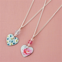 Picture of Child's Heart & Crystal Necklace