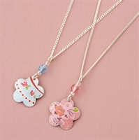 Picture of Child's Flower & Crystal Necklace