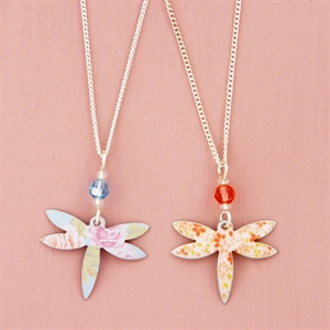 Picture of Child's Dragonfly & Crystal Necklace