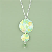 Picture of Bright Floral Two Disc & Crystal Necklace