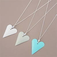 Picture of Bridesmaid Slim Heart & Crystal Pendant