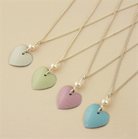 Picture of Bridesmaid Heart & Pearl Pendant