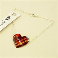 Picture of Tartan Round Heart Bracelet