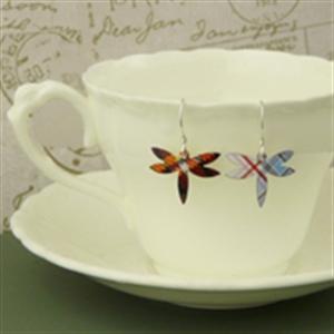 Picture of Tartan Petite Dragonfly Earrings