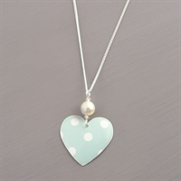 Picture of Spotty Round Heart Necklace with Pearl