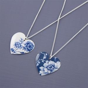 Picture of Denim Round Heart Necklace JS2-de