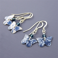 Picture of Butterfly & Crystal Earrings JE05b-de