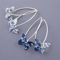 Picture of Denim Butterfly Earrings (medium earwires) JE5-de