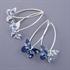 Picture of Denim Butterfly Earrings (medium earwires) JE5-de