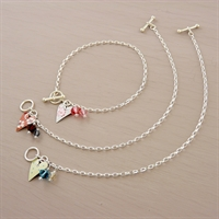Picture of Small Slim Heart Toggle Bracelet