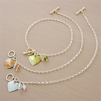 Picture of Small Round Heart Toggle Bracelet