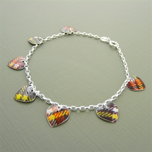 Picture of Tartan Heart Charm Bracelet