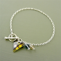 Picture of Tartan Small Slim Heart Toggle Bracelet