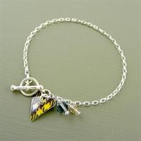 Picture of Tartan Small Slim Heart Toggle Bracelet