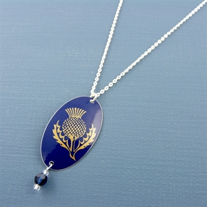 Picture of Thistle Oval & Crystal Necklace