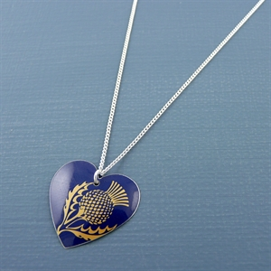 Picture of Thistle Round Heart Pendant