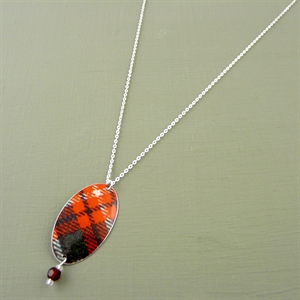 Picture of Tartan Oval & Crystal Necklace
