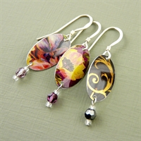 Picture of Oval & Crystal Earrings VS-E78
