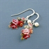 Picture of Oak Leaf Earrings with Crystal JE18b