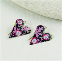 Picture of Liberty Print Medium Heart Earrings JE12-L