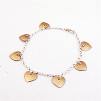 Picture of Copper Rose Heart Charm Bracelet