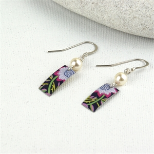 Picture of Liberty Rectangle & Pearl Earrings JE-48-L