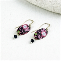 Picture of Liberty Oval & Crystal Earrings JE78