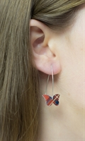 Picture of Tartan Butterfly Earrings (medium earwires) JE-E01T