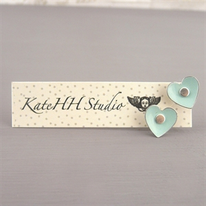 Picture of Emily Jane Round Heart Studs Mint