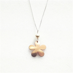 Picture of Large Flower & Pearl Necklace JS49B