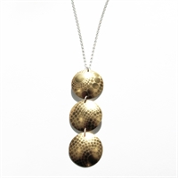 Picture of Geo Gold Three Disc Necklace JS51