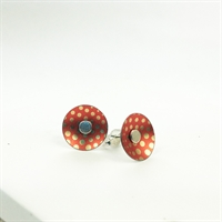 Picture of Geo Orange Small Round Studs