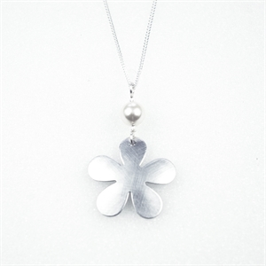 Picture of Large Flower & Pearl Necklace JS49b-A