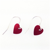 Picture of Red Aluminium Round Heart Earrings JE1