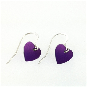 Picture of Purple Aluminium Round Heart Earrings JE1