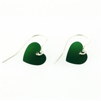 Picture of Green Aluminium Round Heart Earrings JE1