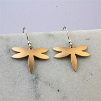 Picture of Copper Rose Petite Dragonfly Earrings