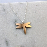 Picture of Copper Rose Petite Dragonfly Necklace JS22-CR