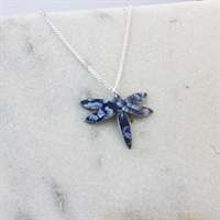 Picture of Denim Petite Dragonfly Necklace