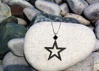 Picture of Black Aluminium Star Necklace JS11-Black