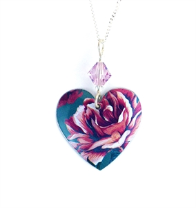 Picture of Jade Round Heart Necklace