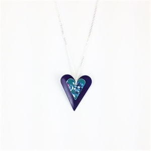 Picture of Jade Slim Double Heart Necklace