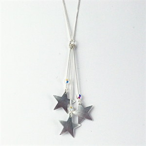 Picture of Three Stars Necklace JS4b-star