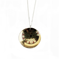Picture of Gold Stellar Moon Double Disc Necklace